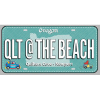 Fabric License PlateQlt @ the Beach - Product Image
