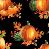 Autumn ElegancePumpkin Allover Black - Product Image
