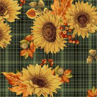 Autumn EleganceSunflower Plaid Green - Product Image