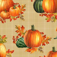 Autumn ElegancePumpkin Allover Bisque - Product Image