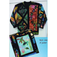 Batik Turtle Sweatshirt Jacket - Product Image