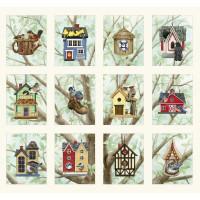Beautiful Bird Houses Panel - Product Image