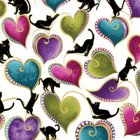Cat-I-tude Cats & Hearts - Product Image