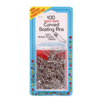 Collins Curved Basting Pins   Size 1   100 pcs - Product Image