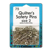 Collins Quilter's Safety Pins  Size 2   75 pcs - Product Image