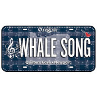 Fabric License PlateWhale Song - Product Image