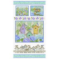 Hydrangea Birdsong Panel - Product Image