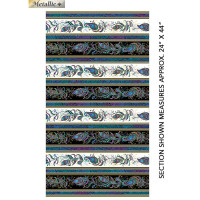 Peacock FlourishFeather Stripe - Product Image