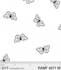 Ramblings Fun ButterfliesWhite-on-White - Product Image