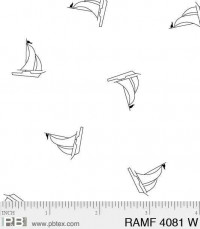 Ramblings Fun SailboatsWhite-on-White - Product Image