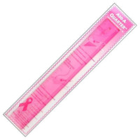 Ruler - Add-A-Quarter 12 inch pink - Product Image