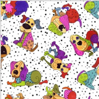 Tossed Happy Dogs - Product Image