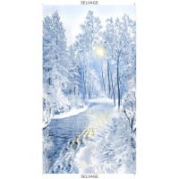 Winter FrostSnowy Forest Panel - Product Image
